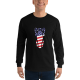 P&P Long Sleeve T-Shirt USA Flag Black