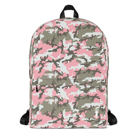 P&P Backpack Horse Girl White/Green Camo