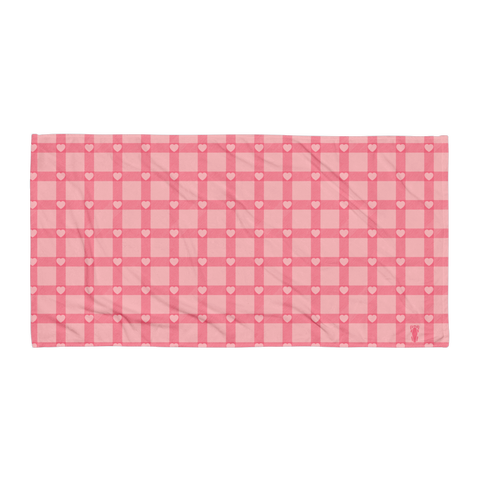 P&P Towel Baby Pink Plaid