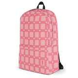 P&P Backpack Baby Pink Plaid/Hearts