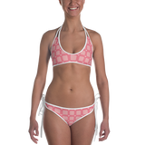 P&P Bikini Baby Pink Hearts Plaid