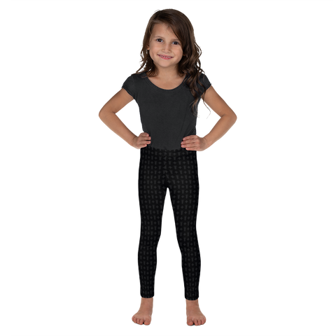 Kid's Leggings Black Logo Star