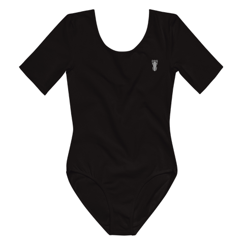 P&P Short Sleeve Bodysuit Grey Logo