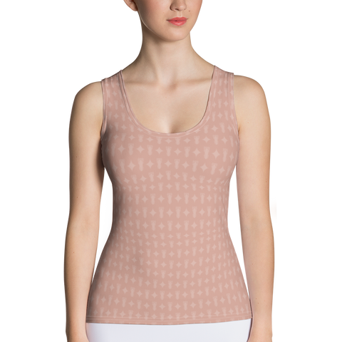 P&P Tank Top Peach Logo Star