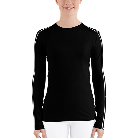 P&P Women's Rash Guard Brand Stripe