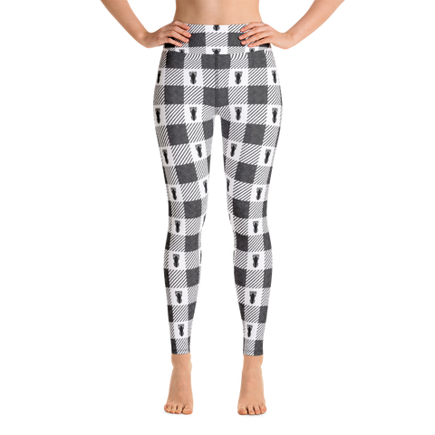 P&P Yoga Leggings White Plaid