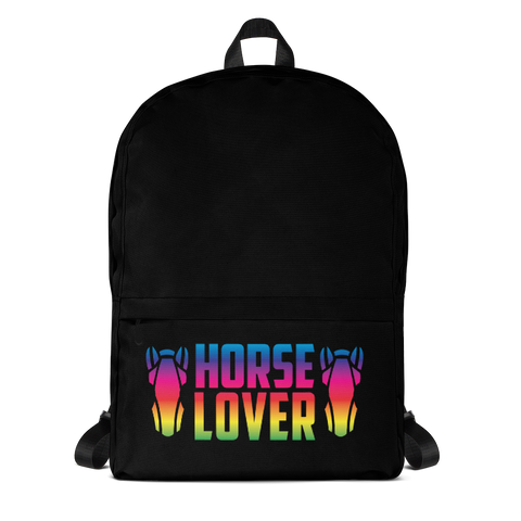 P&P Backpack Horse Lover Black/Rainbow
