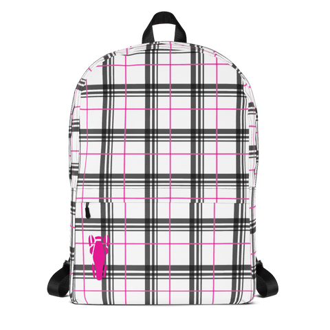 P&P Backpack Plaid/Pink