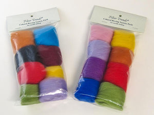 Fiber Trends Colored Wool Roving Variety pack - 8 Colors