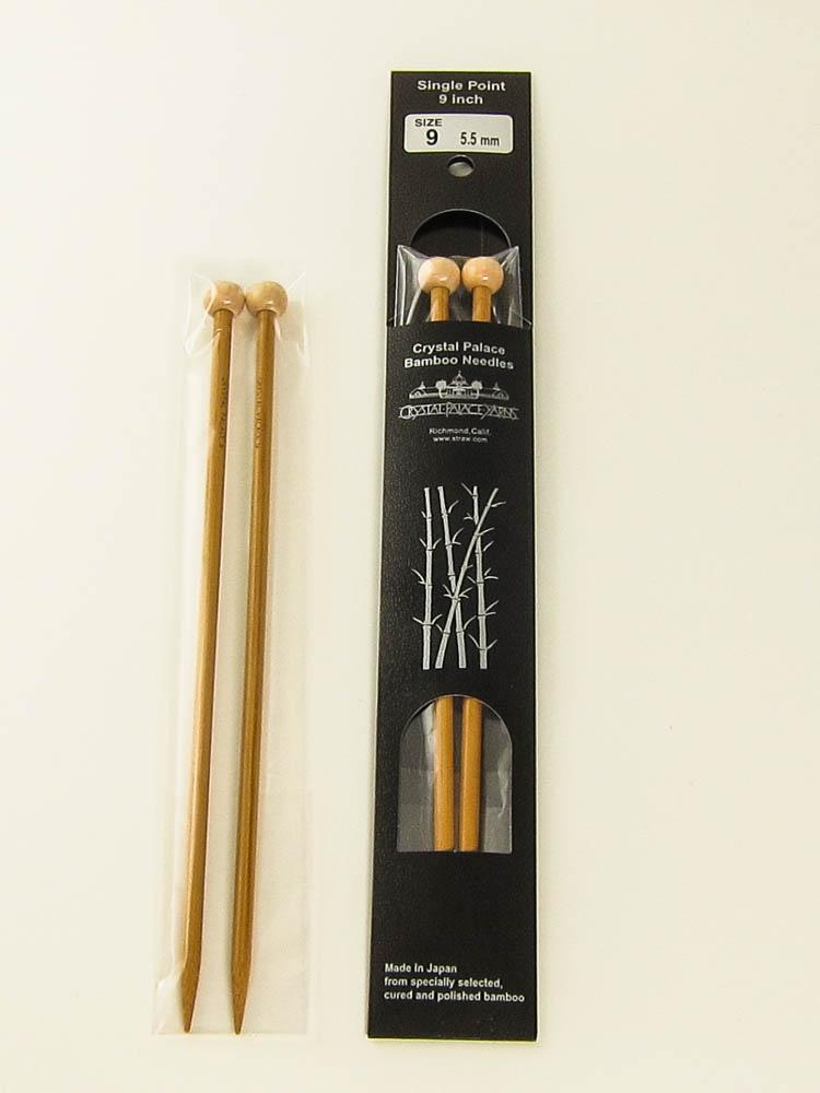 Set of 5 Crystal Palace Bamboo Needles Double Pointed 7 inch US 15 10mm