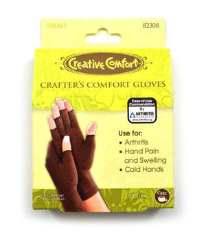 Crafter's Comfort Gloves Small - Fengari Fiber Arts