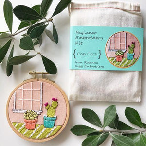 Cozy Cacti Embroidery Kit