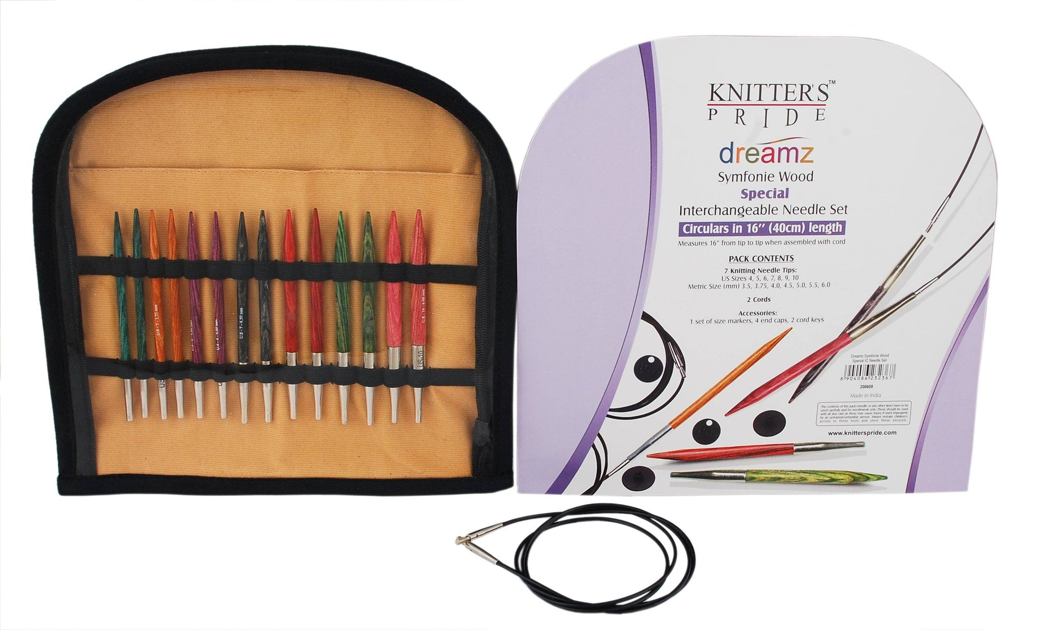 """:Interchangeable Needle Colored Cord: 24/"""" 60 cm Knitter/'s Pride"""