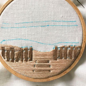 Day at the Beach Embroidery Kit
