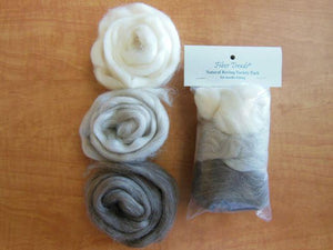 Fiber Trends Undyed Wool Roving - 3 Colors