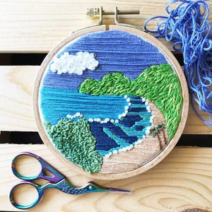 Hanauma Bay Embroidery Kit