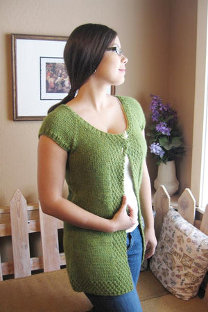 Knitting Pure & Simple 104 - Cap Sleeve Cardi Vest