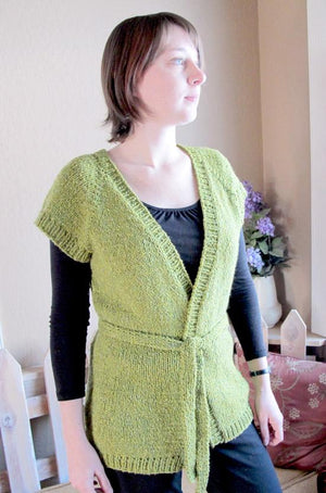 Knitting Pure & Simple 114 - Cap Sleeve Wrap Cardigan