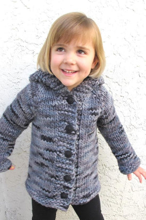 Knitting Pure & Simple 126 - Child's Bulky Top Down Coat