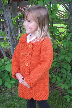 Knitting Pure & Simple 1304 - Kids Double-Breasted Coat