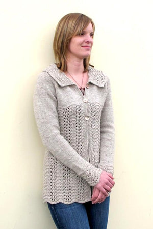 Knitting Pure & Simple 1307 - Easy Lace Cardigan