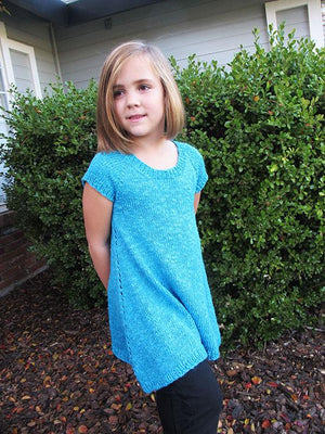 Knitting Pure & Simple 1502 - Girls Trapeze Tunic