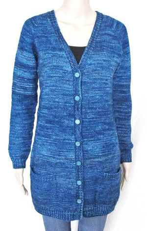 Knitting Pure & Simple 1609 - V-neck Pocket Cardigan
