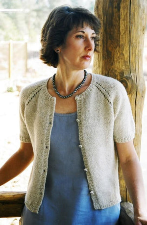 221 - Neck Down Summer Cardigan - Fengari Fiber Arts