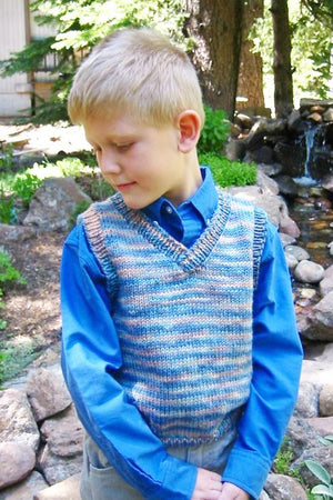 256 - Children's Basic Vest - Fengari Fiber Arts