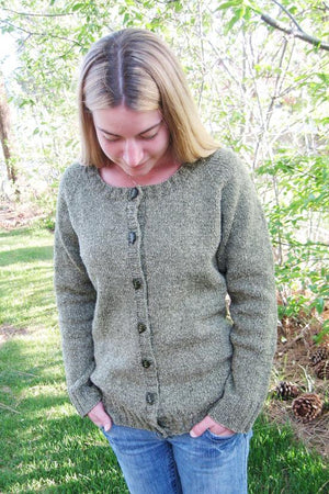 278 - Neck Down Scoop Cardi - Fengari Fiber Arts