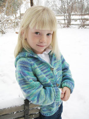 981 - Children's Neck Down Cardigan - Fengari Fiber Arts