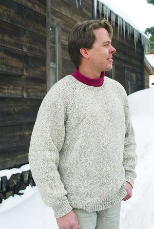 991 - Men's Neck Down Pullover - Fengari Fiber Arts