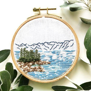 Lake Tahoe Embroidery Kit