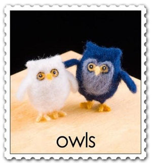 Needle Felting Kit - Owls