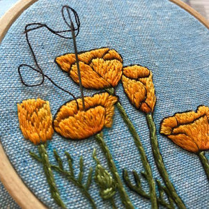 Peaceful Poppies Embroidery Kit