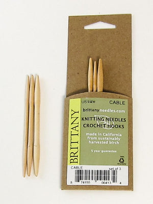 Brittany Birch Cable Needles (set of three) - Fengari Fiber Arts
