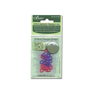 Clover 3148 - Stitch Markers Triangle (Extra Small) - Fengari Fiber Arts