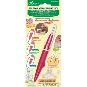 Clover 8901 - Pen Style Needle Felting Tool (Holds 3 Needles) - Fengari Fiber Arts