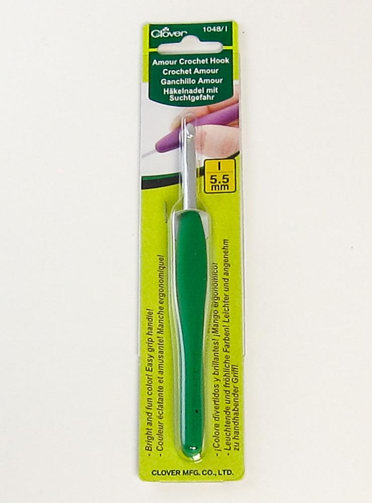 Size I Clover 1048//I Green Amour Crochet Hook 5.5mm