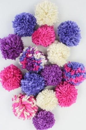 Pom Pom Garland Kit - Purples