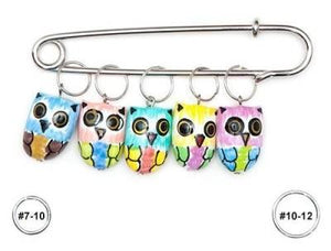 Wooden Stitch Markers - Owl