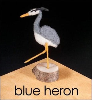 Needle Felting Kit - Blue Heron
