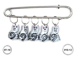 Wooden Stitch Markers - Cat