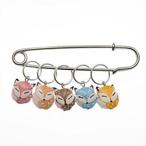 Wood Stitch Markers - Foxes