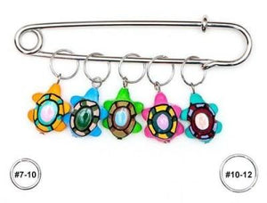 Wooden Stitch Markers - Turtle