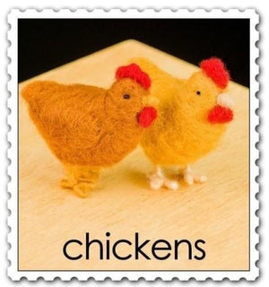 Needle Felting Kit - Chickens
