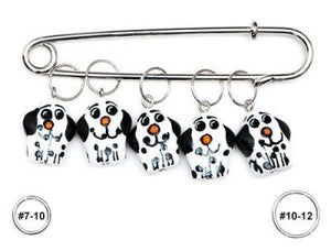 Wooden Stitch Markers - Dog