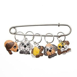 Wood Stitch Markers - Puppies