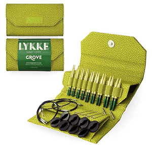 "LYKKE Grove Bamboo Interchangeable Set (3.5"" Tips) - Green Case"