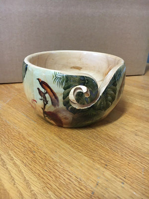 Yarn Bowl - Leaves & Birds